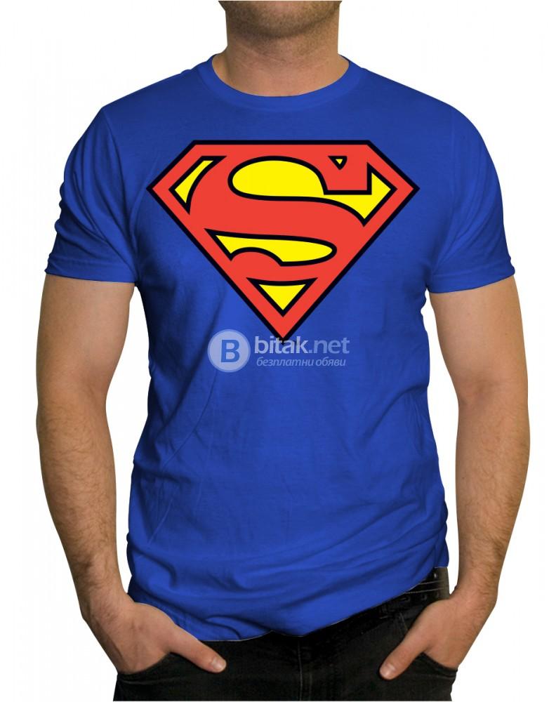 НОВО! Мъжка тениска SUPERMAN / СУПЕРМЕН! Поръчай модел с ТВОЯ идея!