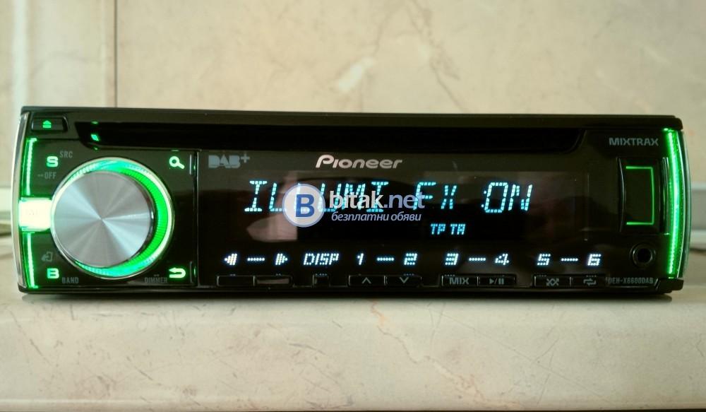 Pioneer DEH-6600DAB, жесток CD/USB/AUX плеър, внос от Англия