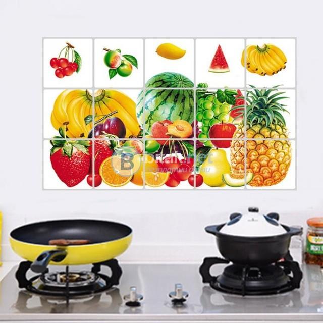 Стикери фолио за кухня декор за плочки лалета стикер за стена печка