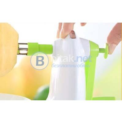 Белачка и резачка за ябълки ръчен уред машинка за белене на ябълки