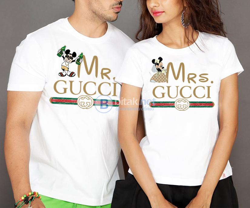 a6d18ae0856 ЗА ВЛЮБЕНИ! MR & MRS GUCCI ГУЧИ LOVE тениски! Поръчай модел с твоя ИДЕЯ!
