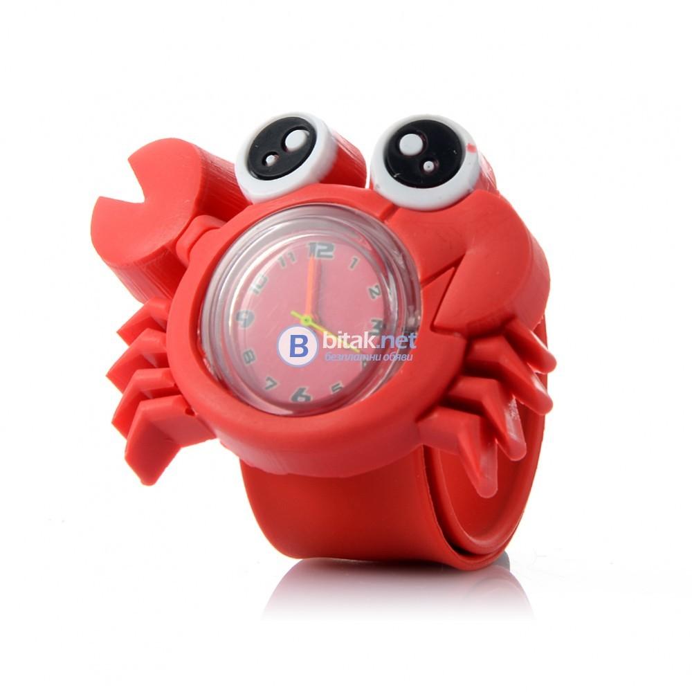 Детски силиконов часовник гривна панда ягодка покемон калинка жабка
