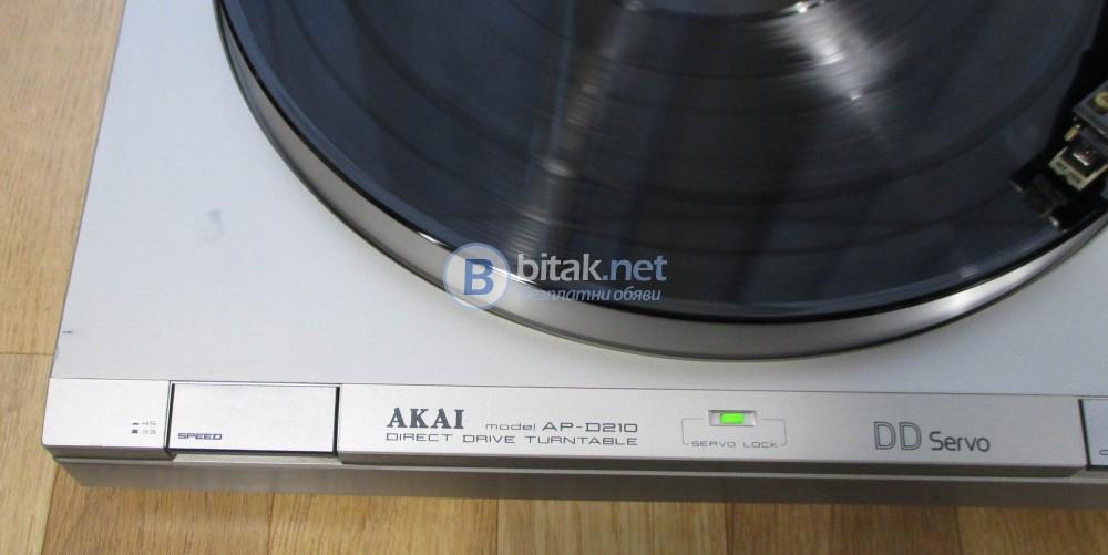 AKAI AP-D 210 - Качествен директ драйв с кварцова стабилизация.