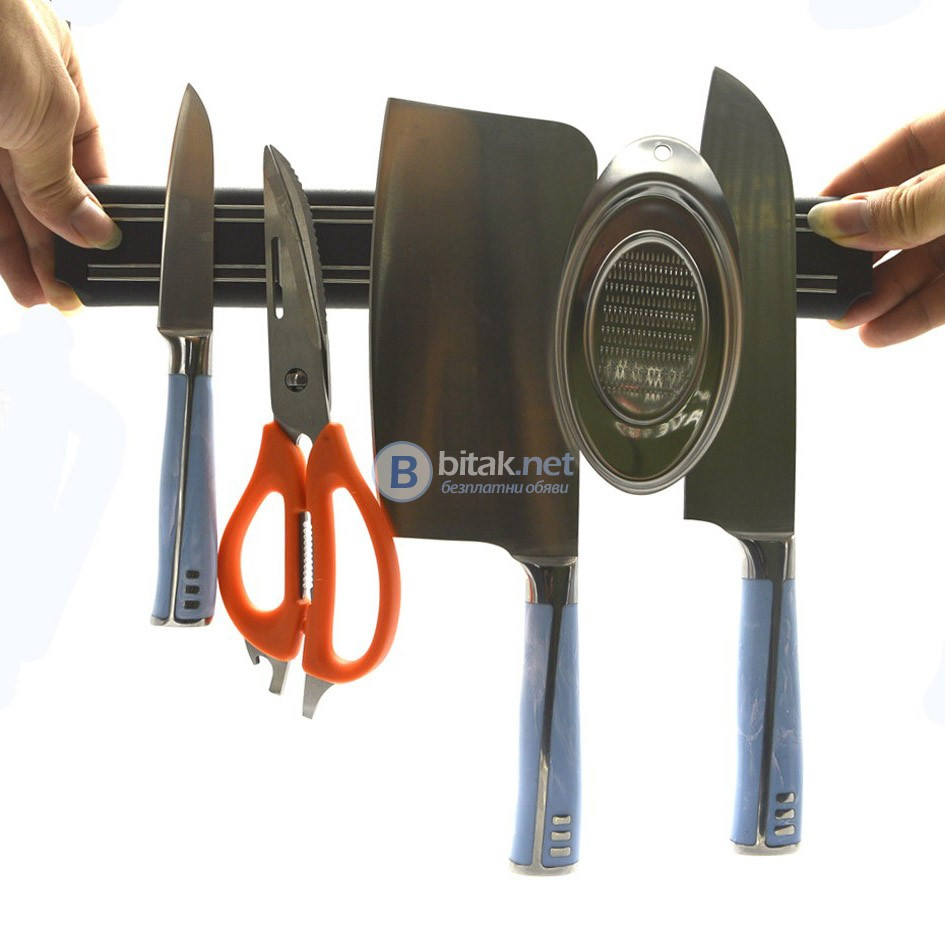 Магнитна лента стойка за кухненски ножове държач поставка за стена