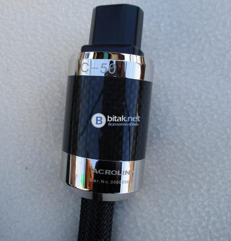 OYAIDE TUNAMI PCOCC – Качествен захранващ кабел 30А с родиеви накрайници на ACROLINC C-50 и P-50 с к