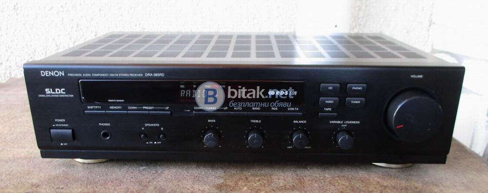 DENON DRA-385RD – Транзисторен стерео ресивър от серията прецизен аудио компонент.