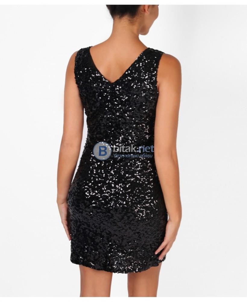 Малка златна/черна рокля