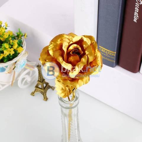 Златна роза 24 - подарък за жена