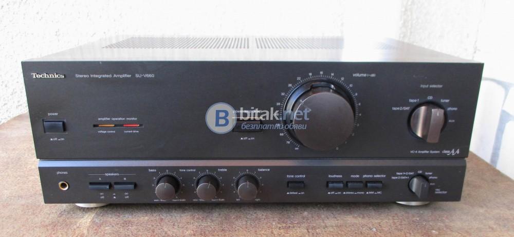 TECHNICS SU-V660 – VC-4 система усилвател клас АА за по качествен звук.