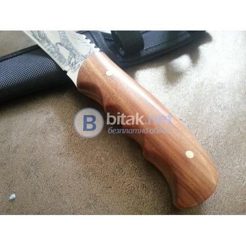 Ловен нож с инкрустиран ловец -130 x 256