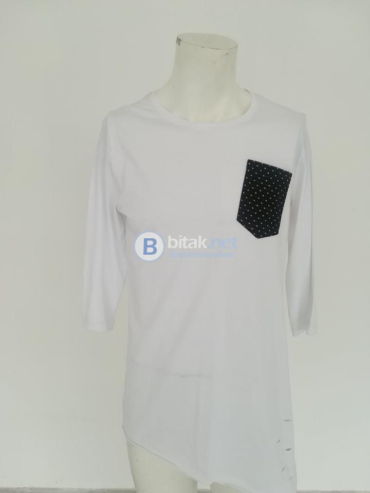 Мъжка асиметрична тениска за ежедневна употреба