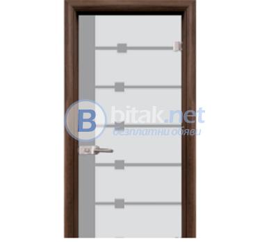 Стъклена интериорна врата Sand G 14-5 с каса Венге