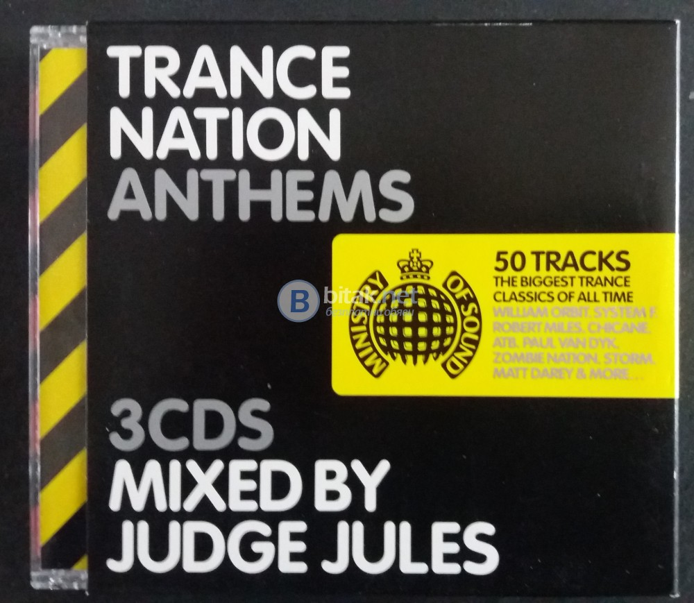 СД -Trance Nation Anthems 50 TRACKS-3CD MIXED BY JUDGE JULES