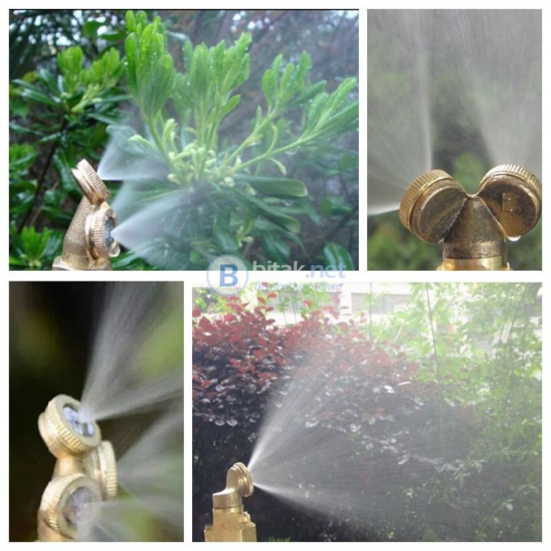 Дюза накрайник регулируема струя за мъгла градинска пръскачка напояване Дюза накрайник регулируема