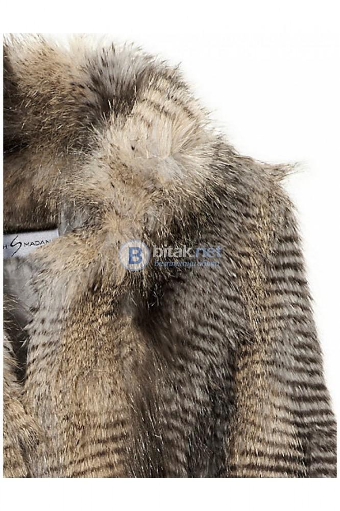 Дамско кожено палто с дълъг косъм от Германия