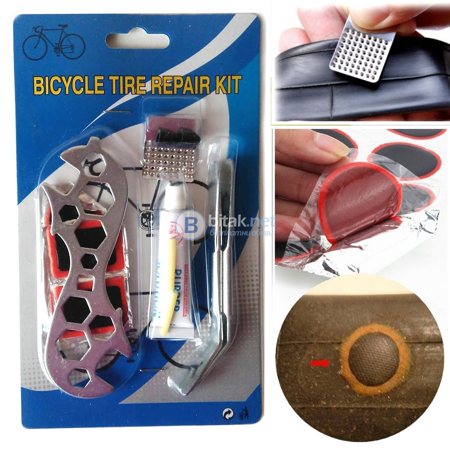 SOS комплект инструменти за ремонт на велосипед поправка на спукана гума