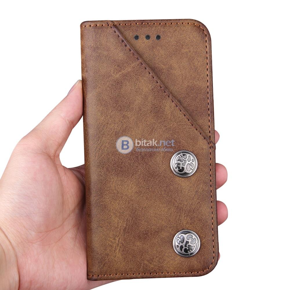 Луксозен кожен калъф за Samsung Galaxy S8 кейс за телефон