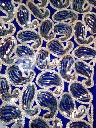 НОВА НАЛИЧНА Сценична рокля за салса, бачата, кизомба, танго или латино танци синя с ресни по диагон