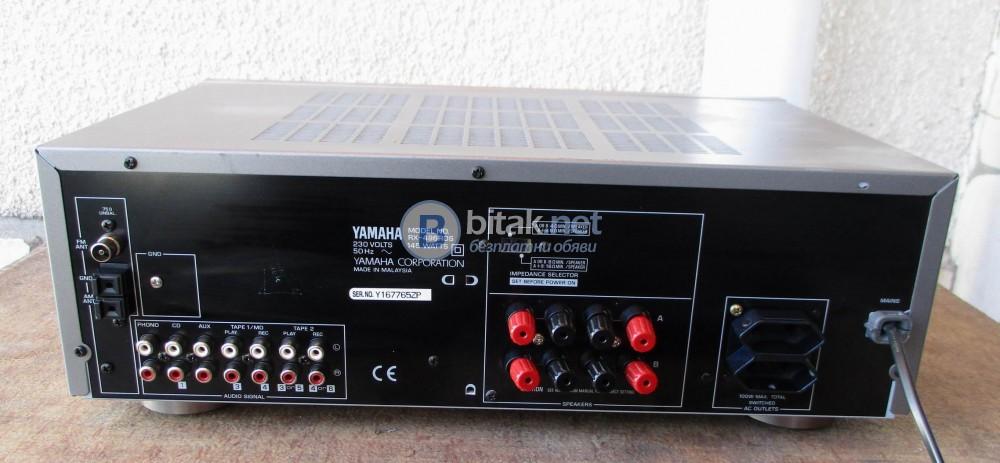 YAMAHA RX-496 RDS – Титаниев красавец. Транзисторен стерео ресивър с възможност за дистанционно.