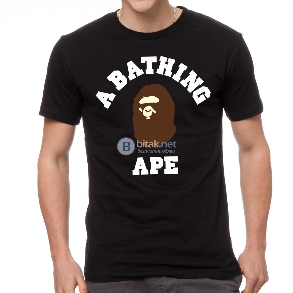 ХИТ 2018! Мъжки тениски с BAPE BATHING APE реплика принт. Поръчай с ТВОЯ идея за модела