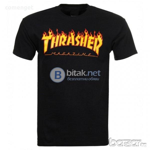 ХИТ МОДЕЛ! Мъжка тениска с THRASHER MAGAZINE принт реплика! Бъди различен, поръчай с твоя идея!