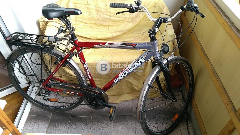 Продавам градски велосипед като нов с алуминиева рамка марка CHOCKBLAZE
