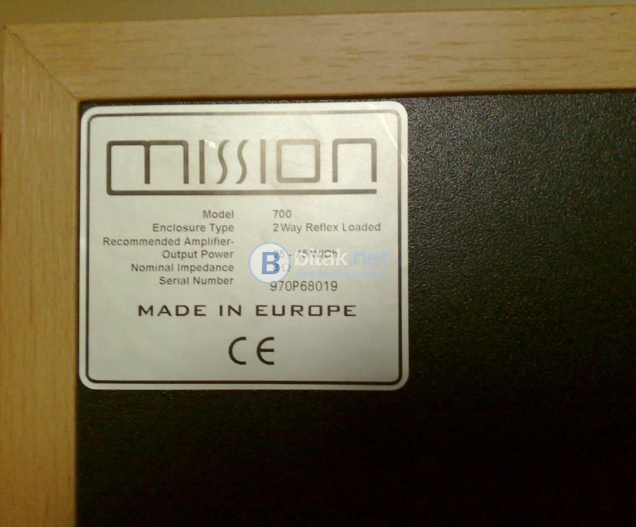 Mission 700 , качествени английски тонколони 2х75 вата
