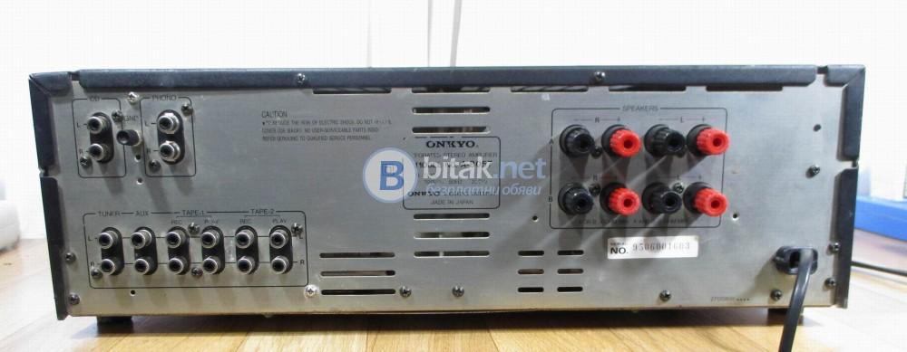 ONKYO A-8057 – Мощен – 2Х65 watts per channel into 8Ω (stereo).