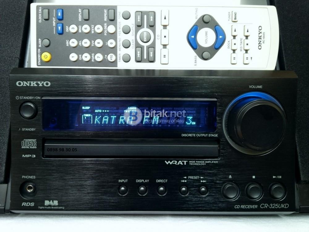 ONKYO CR-325UKD, страхотен CD/MP3/DAB/FM ресивър, 2х26 вата, THD: 0.009%, дистанционно