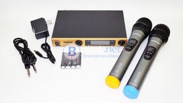 Двойка професионални микрофони с приемател AKG KM388