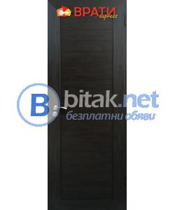 Алуминиева врата за баня, цвят Венге