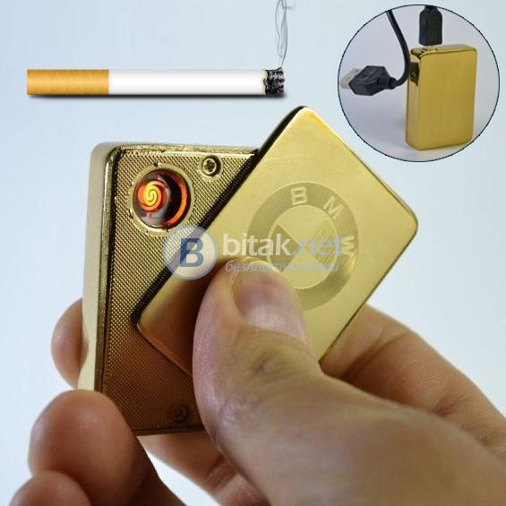 Електронна Еко USB запалка за цигари с лого на AUDI, VW, BMW в кутия