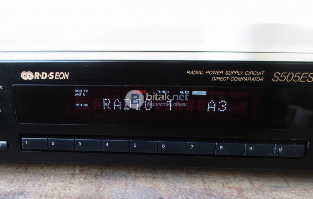 SONY ST-S 505ES – Хай Енд тунер от най висок клас с RDS,EON от серията Есприт.