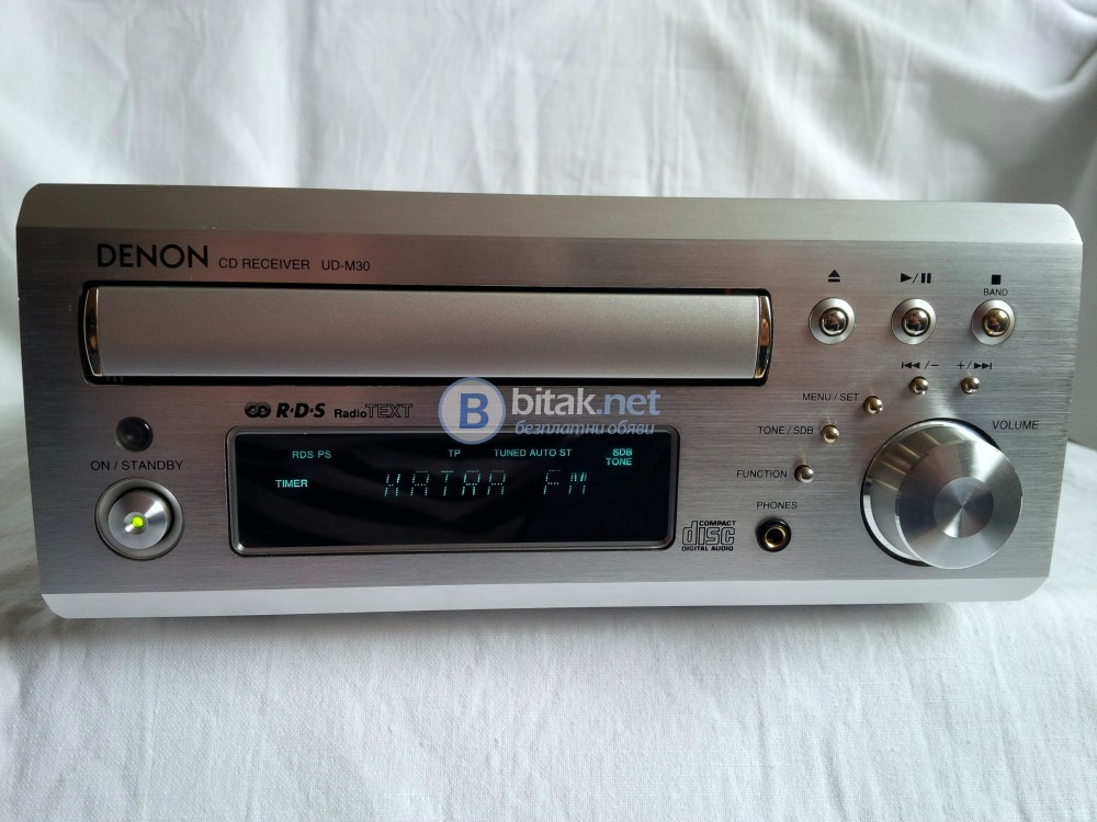 DENON UD-M30 , прекрасен CD ресивър с RDS/EON/PTY/PS/TA/RT/TP/CT , 2х20 вата