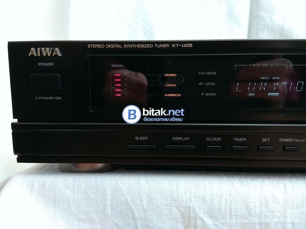 AIWA XT-005, красив рядко срещан топ модел тунер с 36 станции памет