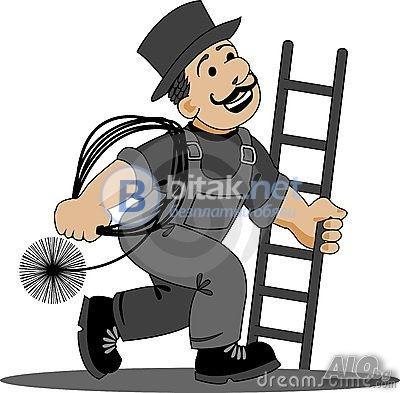 Коминочистач почиства зида измазва чистя улуци 0893831515