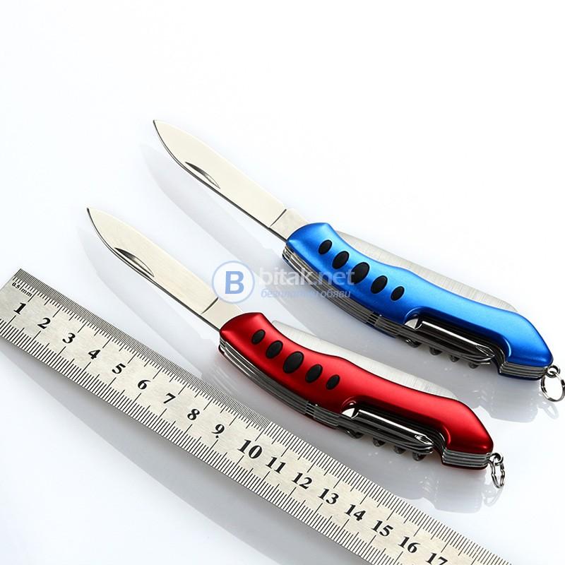 Мултифункционален сгъваем джобен нож с 5 елемента джобно ножче