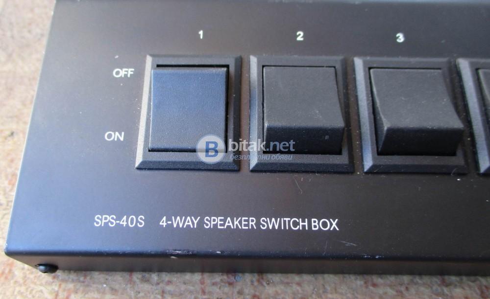 MONACOR – 4 WAY SPEACER SWITCH BOX – 4 канален комутатор за тонколони.