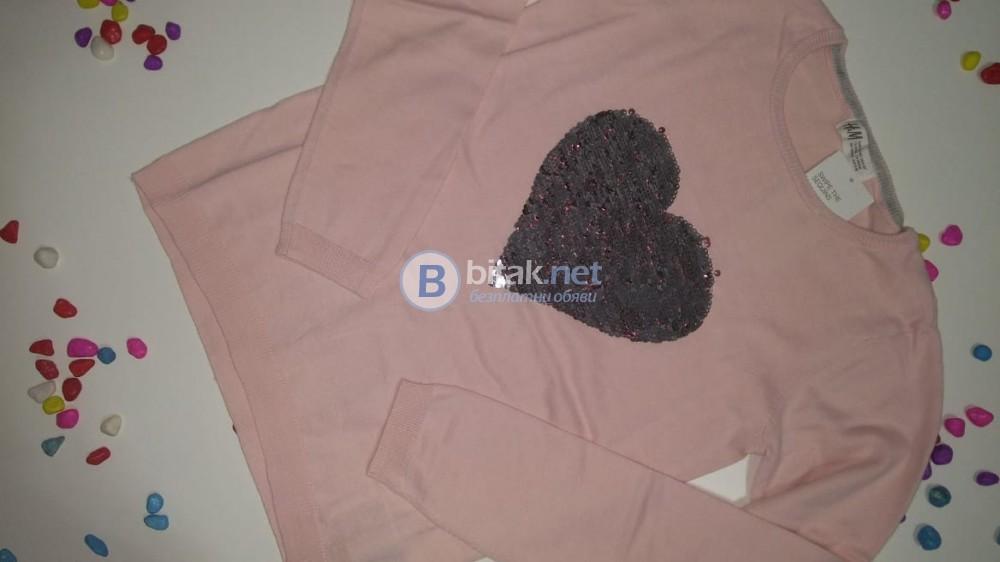 Плетен пуловер с пайети