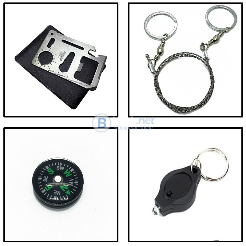 SOS джобен комплект за оцеляване къмпинг екипировка на открито