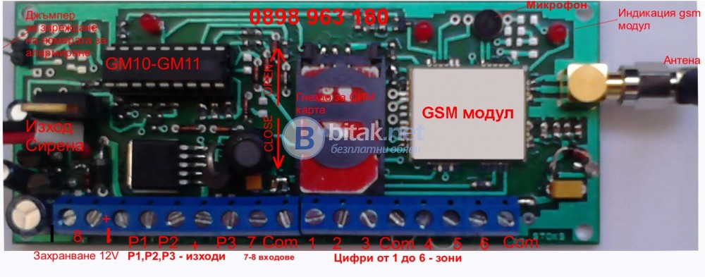 Универсални гсм модули за аларми и управление