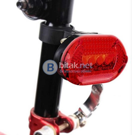 Универсален комплект LED светлини за велосипед фар и стоп за колело
