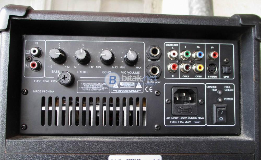SOUND SYSTEMS – Караоке система с DVD,FM радио,входове за китара и клавир.