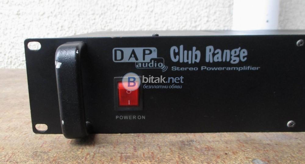 DAP AUDIO – CLUB 500 – Мощно – 2X170W/4OMA, 2X120W/8OMA.