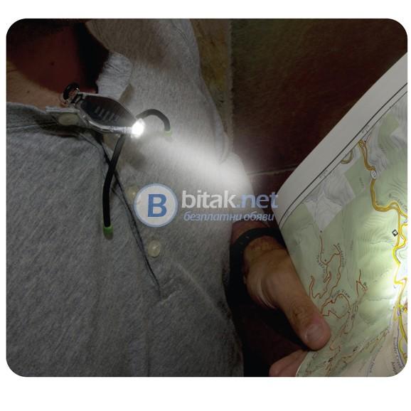 Супер гъвкава мини лед лампа паяк микро фенерче гривна