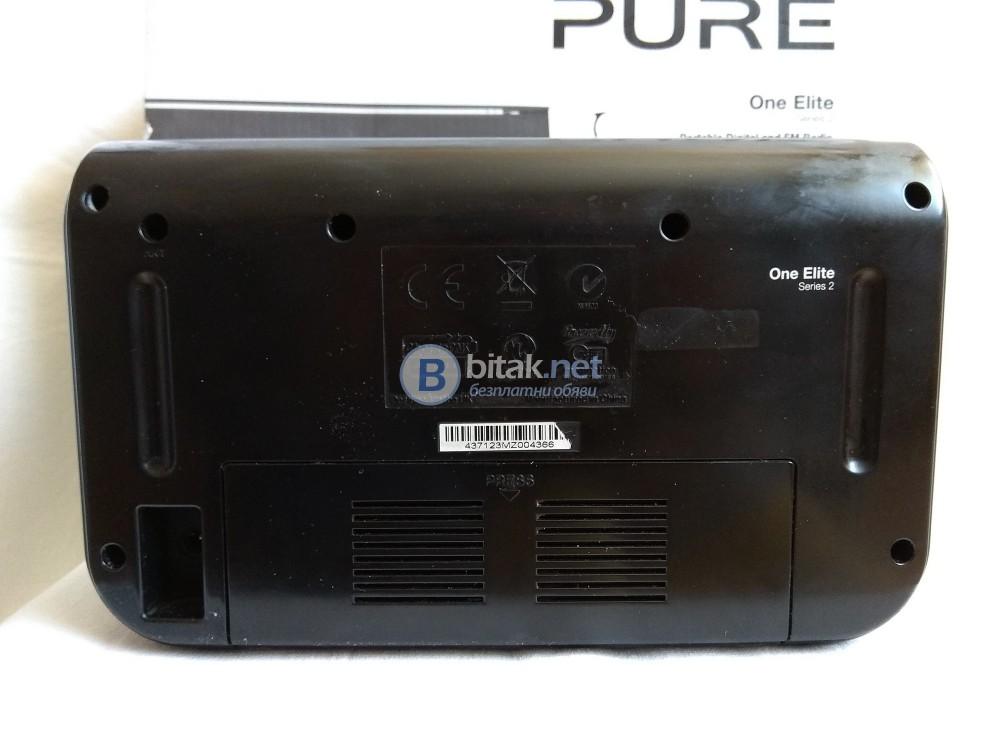 PURE ONE ELITE Serie 2 , английско дизайнерско DAB/FM/RDS радио с много екстри