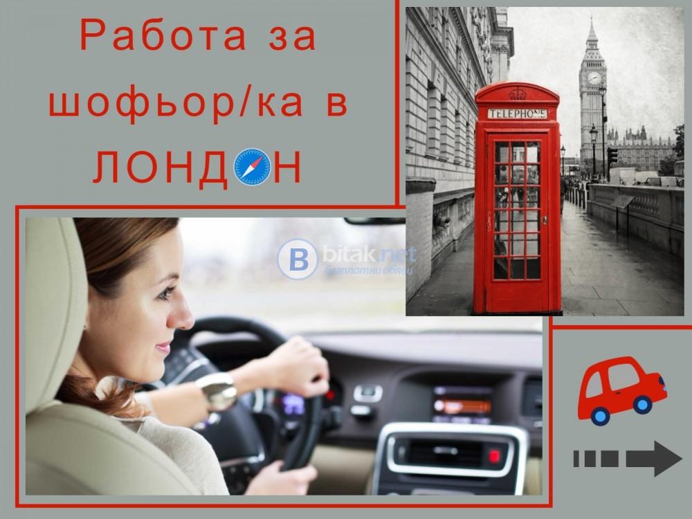 Шофьор/ка за работа в Лондон (АНГЛИЯ).