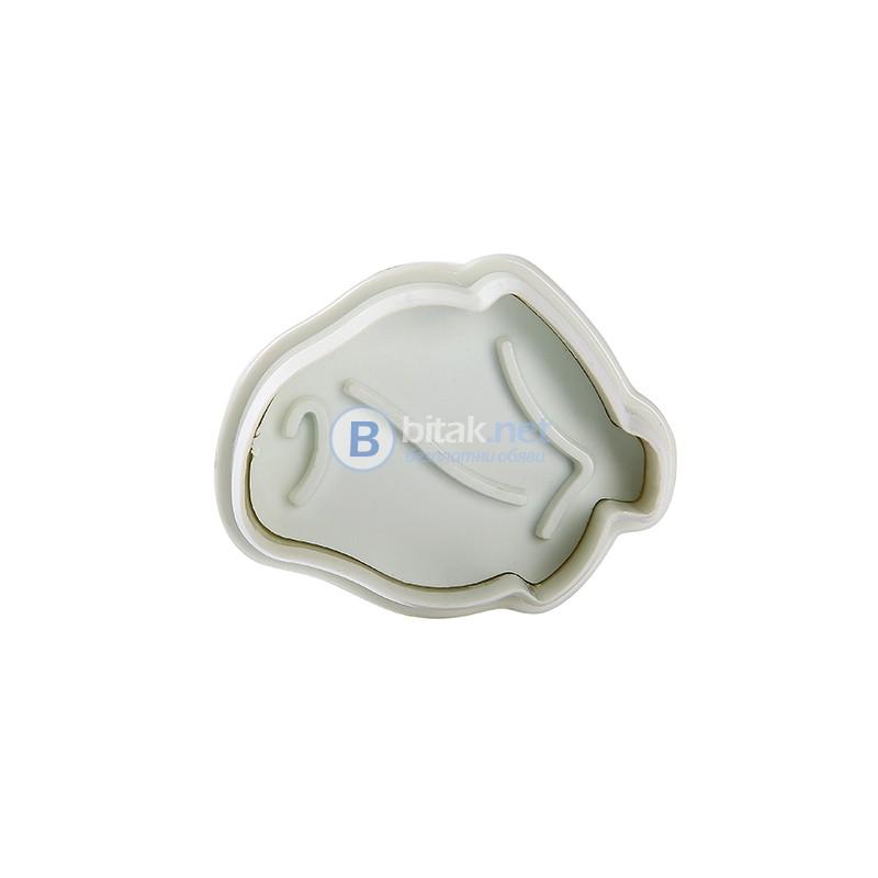 Комплект от 4 бр. релефни резци с бутало – розa и листенца – за фондан или сладки