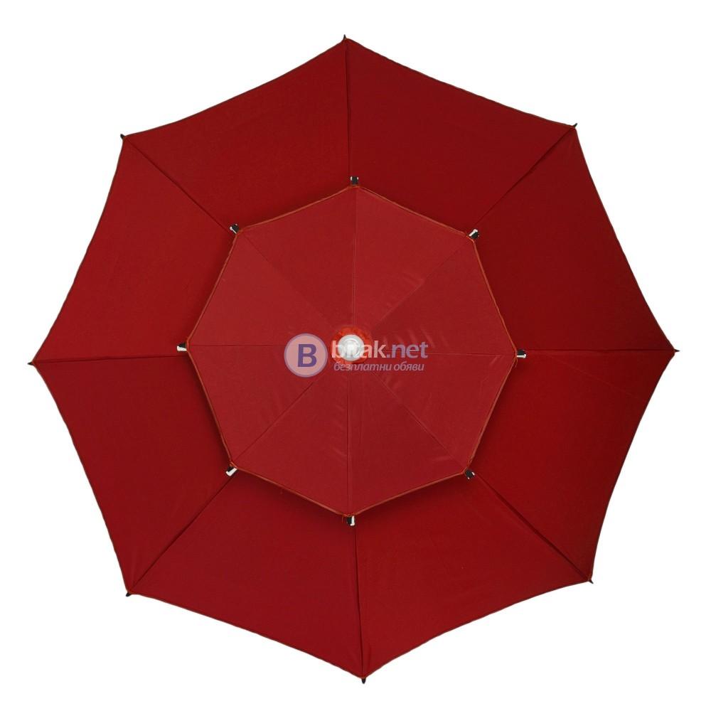 Градински чадър на две нива -осмоъгълен