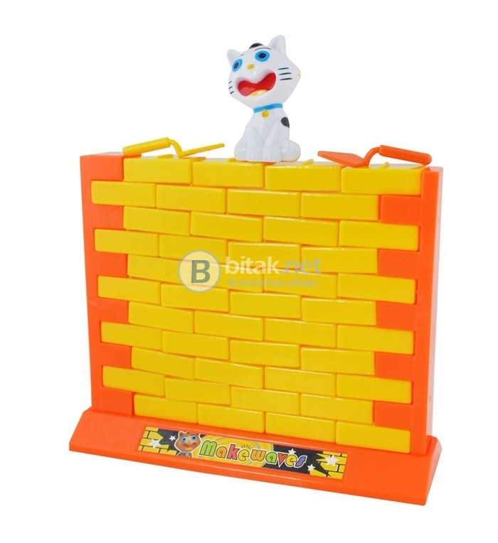 Детска или семейна логическа игра - Котка на стената